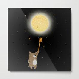 Honey Moon Bear Hunt Metal Print