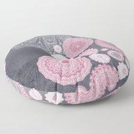 FESTIVAL FLOW - PINK GREY Floor Pillow