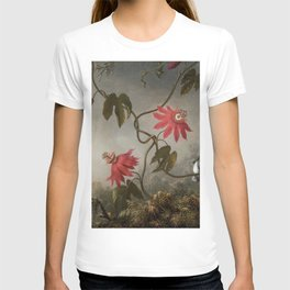 Passion Flowers With Hummingbirds 1883 By Martin Johnson Heade | Reproduction T-shirt