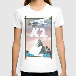 K2 Mountain travel poster. T-shirt
