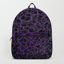 Purple, Black, and Grey Web Crackle Print Backpack