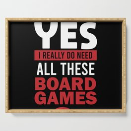 Board Gamer Funny Boardgame Addict Saying Gift Serving Tray