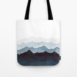 Indigo Mountains Landscape Tote Bag