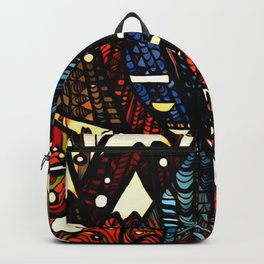 Winter Blue Jay Backpack