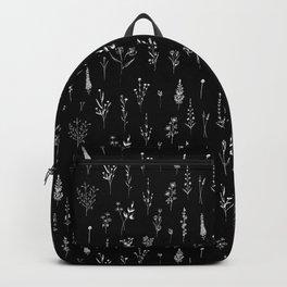 Black wildflowers Rucksack