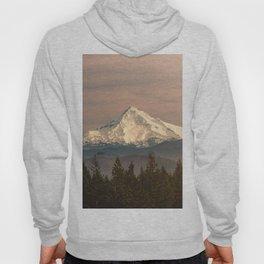 Mount Hood Vintage Sunset - Nature Landscape Photography Hoody