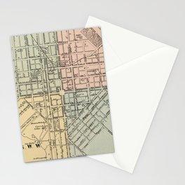 Vintage Map of Lancaster PA (1864) Stationery Cards