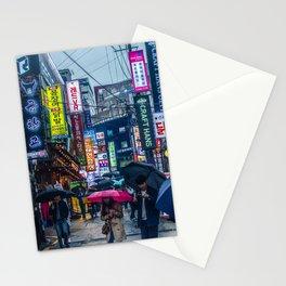 Raining in Gangnam Stationery Cards