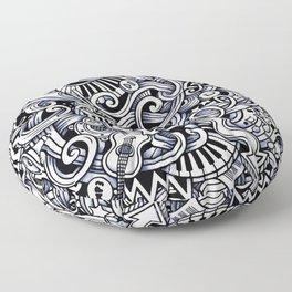 Music doodle pattern Floor Pillow