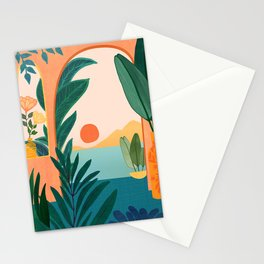 Tropical Evening Stationery Cards