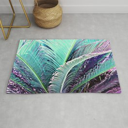 Palms (Teal and purple) Rug