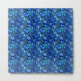Pretty Australian Native Floral Print - Lovely Blue Metal Print