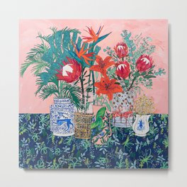 The Domesticated Jungle - Floral Still Life Metal Print