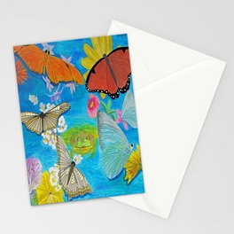 Butterfly dance Stationery Cards