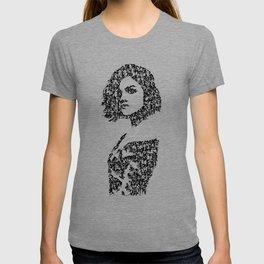Kanji Calligraphy Art :woman's face #36 T-shirt