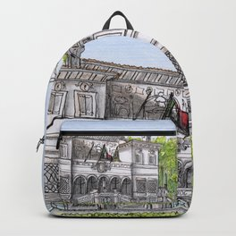 City Landscapes - Galleria Borghese (Museum) - Rome - Italy Backpack