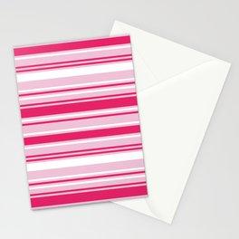 Stripes - Rasberry & Blush Stationery Cards