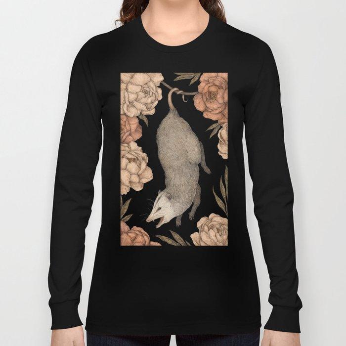 The Opossum and Peonies Langarmshirt