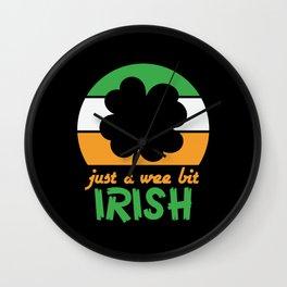 St Patrick Just a Wee Bit Irish Wall Clock