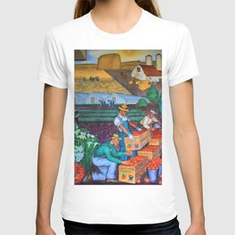 Coit Tower 'Orange Grove mural,' San Francisco, California T-shirt