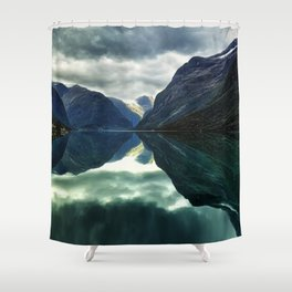 Mountains, Fjords and Glaciers - Norway Shower Curtain