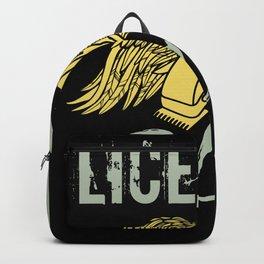 Licensed to carry - Barber Design Backpack