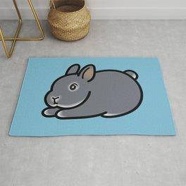 Netherland Dwarf Bunny Loaf Rug
