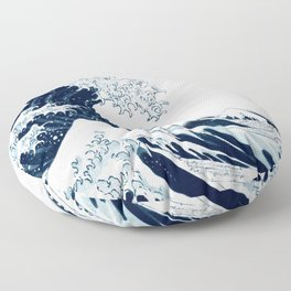 The Great Wave Halftone Floor Pillow