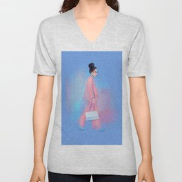 Fashion Sketch no 6 Unisex V-Neck