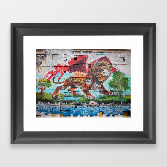 Detroit Chimera ( kī-ˈmir-ə ) Gerahmter Kunstdruck
