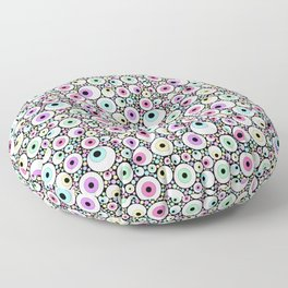 Candy Pastel Eyeball Pattern Floor Pillow