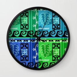 Hawaiian Pattern #1 - marine colors! Wall Clock