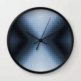 Steel Blue Pixel Arrows Wall Clock
