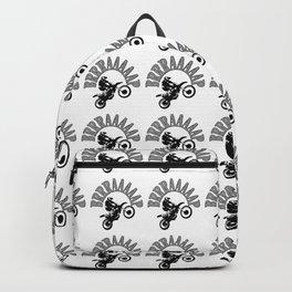 Brrraaaaap Checkered Flag Moto Language Backpack
