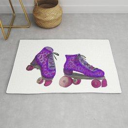 Purple Spotted Roller Skates Rug