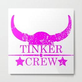 Tinker crew wild west emblem pink Metal Print