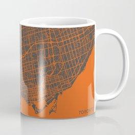 Toronto Map orange Coffee Mug