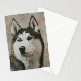 Siberian Husky portrait Stationery Cards