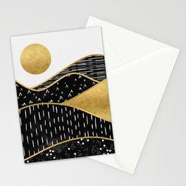 Gold Sun, digital surreal landscape Stationery Cards