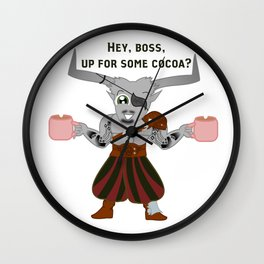 Iron Bull and His Cocoa Wall Clock