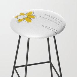 Mustard Daffodil Bar Stool