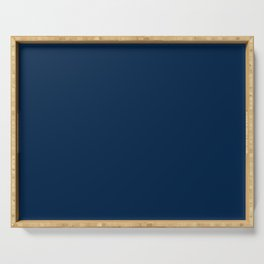 Sloane Navy solid - navy blue solid pillow, navy coordinate Serving Tray