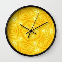 Golden Yellow Starfish Design Wall Clock