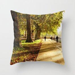 Sunday morning in London Throw Pillow