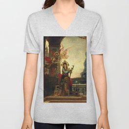 """Gustave Moreau """"Saint Cecilia and the Angels of Music"""" Unisex V-Neck"""