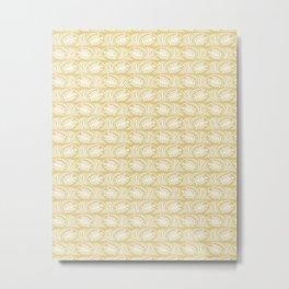 Turtles in the ocean, sandy color marine print Metal Print