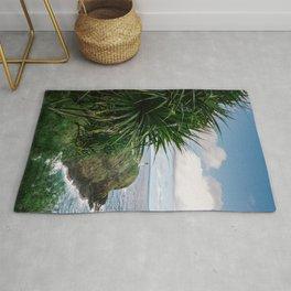 Kilauea Lighthouse Kauai Hawaii   Tropical Beach Nature Ocean Coastal Travel Photography Print Rug