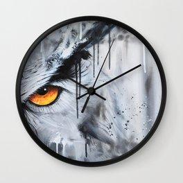 owl eye night vision Wall Clock