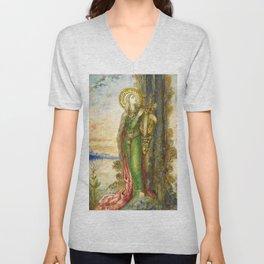 "Gustave Moreau ""Saint Cecilia"" Unisex V-Neck"