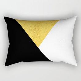 Gold & Black Geometry Rectangular Pillow